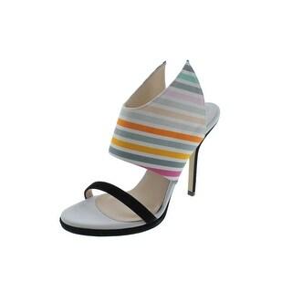 Paul Andrew Womens Nya Suede Trim Striped Heels - 35.5