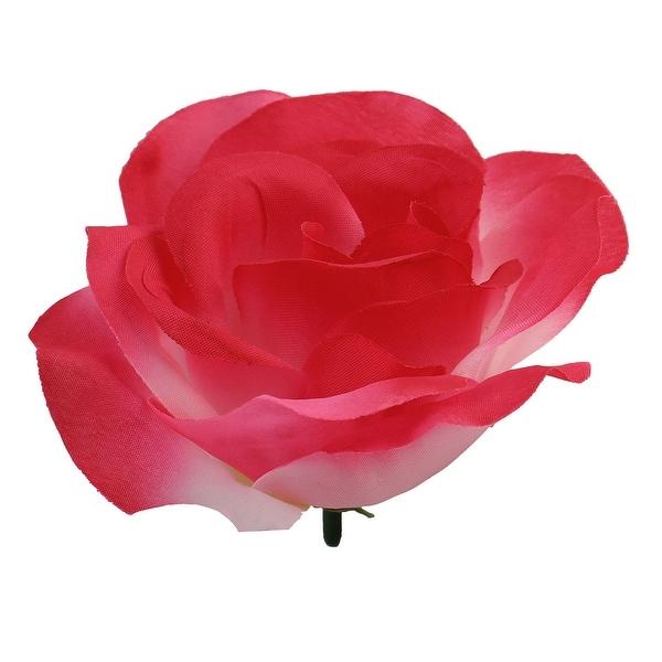 Household Table Handcraft Artificial Fabric Flower Rose Petal Head Decor # 6