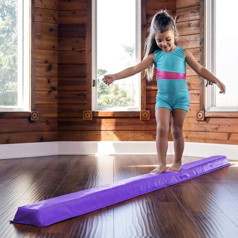 Young Gymnasts Cheerleaders Training Folding Floor Balance Beam