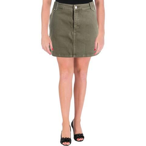 Rebecca Minkoff Womens Mini Skirt Twill Stretch