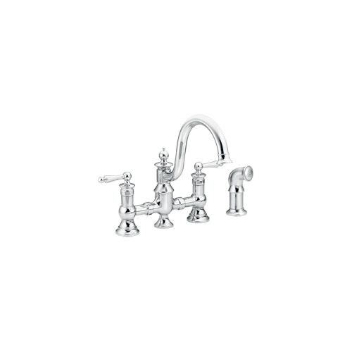 Moen S713 High Arc Kitchen Faucet With Side Spray From The Waterhill  Collection