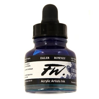 Daler-Rowney - FW Acrylic Artists Ink - 1 oz. Dropper-Top Bottle - Indigo