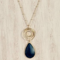 Mad Style Blue Chiara Stone and Icon Necklace