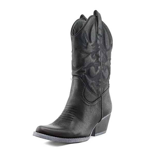 r.b.l.s. Valley Women Round Toe Synthetic Black Western Boot