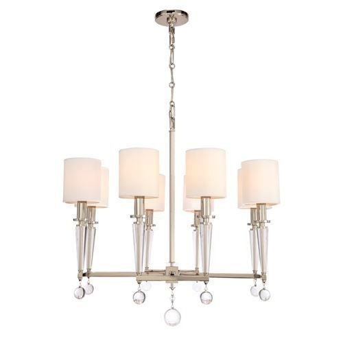 Crystorama Lighting Group 8108 Kingston 8 Light 32 Wide Chandelier With White L