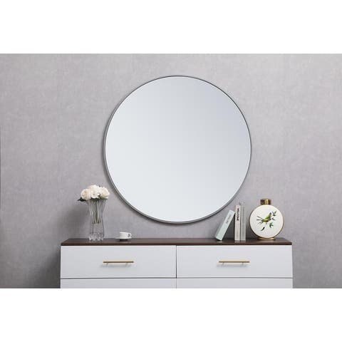 Carson Carrington Labbemala Metal Frame Round Mirror