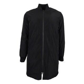 Kenneth Cole New York Men's Long Bomber Jacket (Black, M) - Black - M