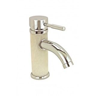 Bathroom White Marble Faucet Chrome Single Hole 1 Handle Renovator's Supply