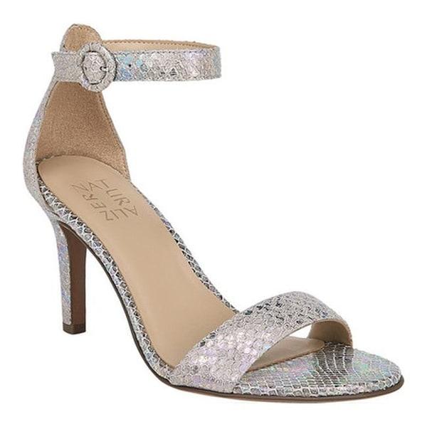 61c9349c5358 Naturalizer Women  x27 s Kinsley Ankle Strap Sandal Silver Snake Leather