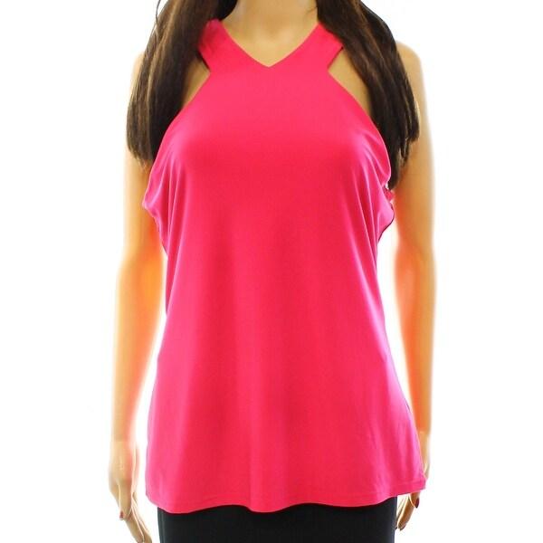 Lauren Ralph Lauren NEW Pink Women's Size Large L Jersey Tank Top