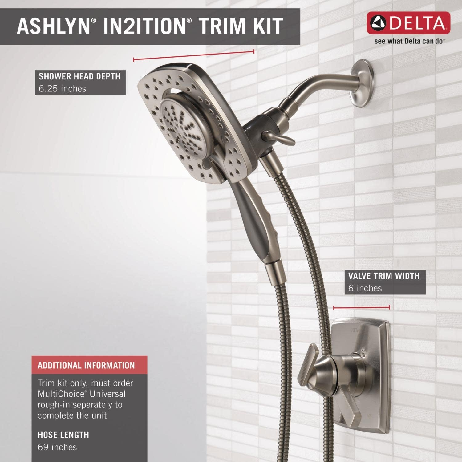 Home Improvement Delta Faucet Dual Function Shower Trim Kit