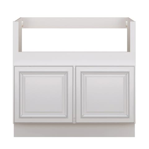 """Sunny Wood RLB36FS-A Riley 36"""" Wide x 34-1/2"""" High Double Door Base Cabinet for Fa - White"""