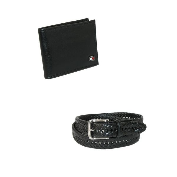 Tommy Hilfiger Men's Dress Belt and Bifold Wallet Set