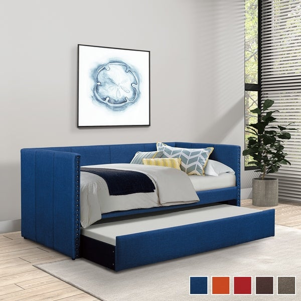 Daisy Upholstered Daybed with Trundle. Opens flyout.