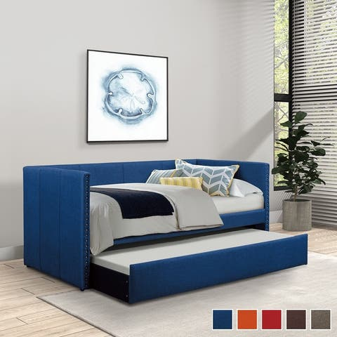 Daisy Upholstered Daybed with Trundle