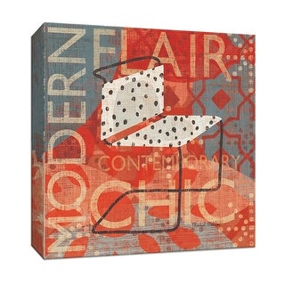 "PTM Images 9-152065  PTM Canvas Collection 12"" x 12"" - ""Modern Flair III"" Giclee Text and Symbols Art Print on Canvas"