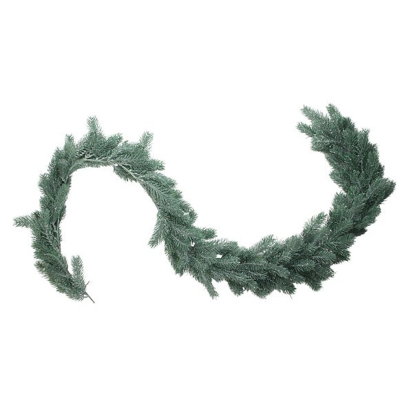 "76"" Frosted and Dusted Artificial Green Pine Decorative Christmas Garland - Unlit"