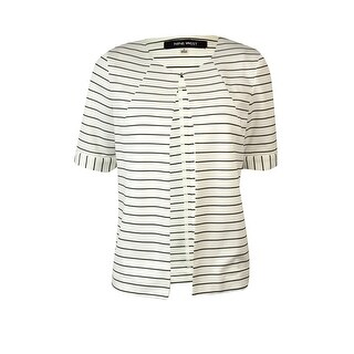 Nine West Women's Striped Short Sleeve Jacket