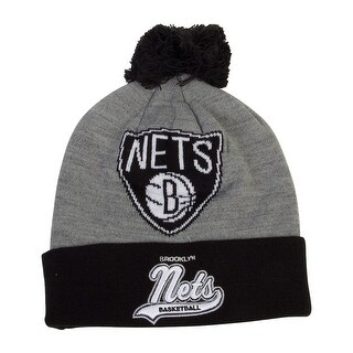 Mitchell & Ness Brooklyn Nets Heather Tailsweep Cuffed Beanie (100% Acrylic)