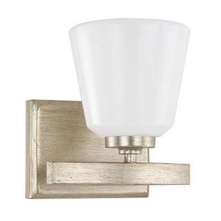 """Donny Osmond Home 8531-300 1 Light 8"""" Tall Bathroom Sconce from the Berkeley Collection - winter gold"""
