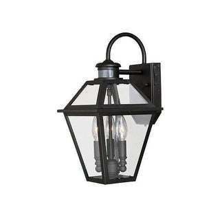 Vaxcel Lighting T0189 Nottingham 3 Light Outdoor Wall Sconce with Clear Glass Shade
