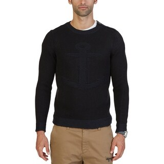 Nautica Mens Crewneck Sweater Knit Anchor