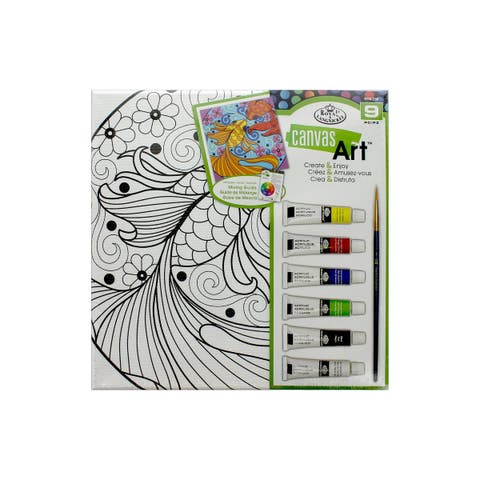 Rtn-258 royal canvas art paint set fish
