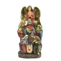 "18"" Traditional Holy Family, Wisemen and Angel Religious Nativity Statue"