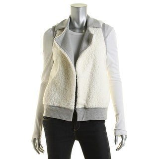 Splendid Womens Faux Fur Reversible Casual Vest - XS