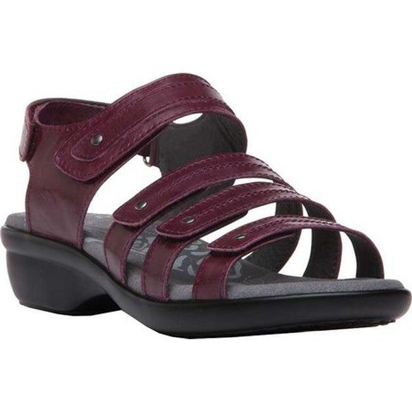 fefe92443675 Shop Propet Women s Aurora Strappy Slingback Sandal Plum Full Grain Leather  - Free Shipping Today - Overstock.com - 19509790