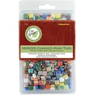 Classico Mini Iridized Tile Mix 8oz-Assorted Colors