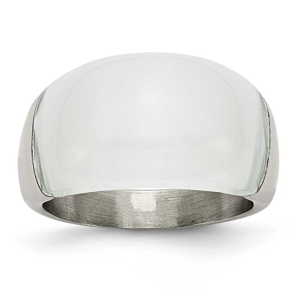 Stainless Steel 12mm Cat's Eye Ring