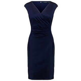 Link to RALPH LAUREN Women's Satin Surplice Dress (Navy/Blue, 4) Similar Items in Dresses