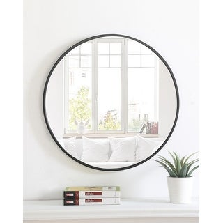 Link to Carson Carrington Labbemala Metal Frame Round Mirror Similar Items in Mirrors