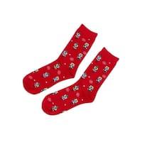Charter Club Women's Nutcracker Socks (One Size, Brick) - Brick - os