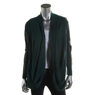 Zara W&B Collection Womens KNit Faux Trim Cardigan Sweater - M