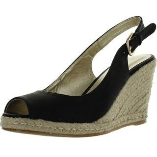 C Label Rollin-4 Womens Espadrille Sling Back Wedge Sandals - Cognac - 7.5 b(m) us