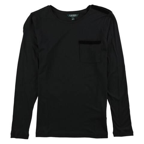 Ralph Lauren Womens Long Sleeve Embellished T-Shirt