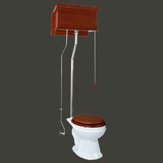 High Tank Toilets Mahogany Flat Tank Elongated High Tank Toilet