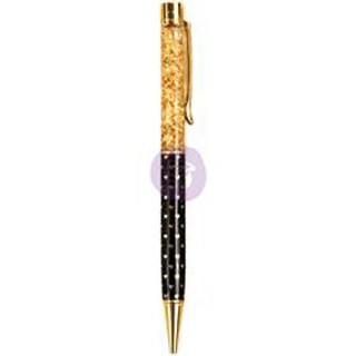 Golden Heart; Gold W/Hearts On Black - My Prima Planner Ballpoint Pen