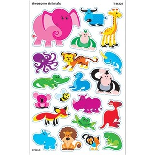 Trend Enterprises Inc. Awesome Animals Supershapes Stickers Large
