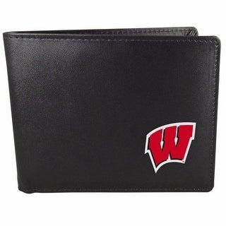 Wisconsin Badgers Bi-fold Wallet Black - ID Window Bifold