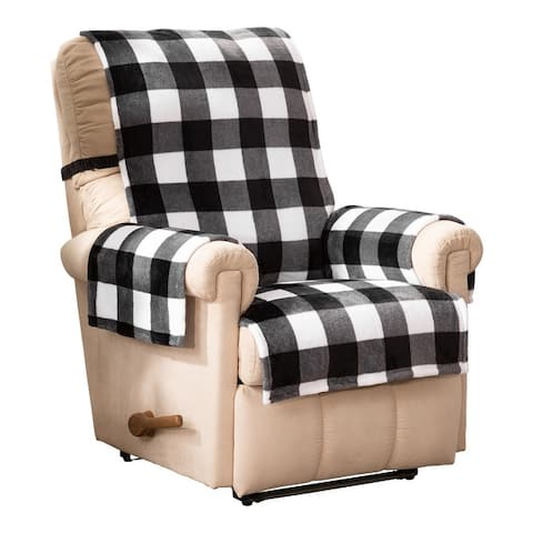 Innovative Textile Solutions Franklin Buffalo Check Recliner/Wing Furniture Cover
