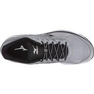 Mizuno Men's Wave Rider 20 Running Shoe, Light Grey/Black, 10.5 D US