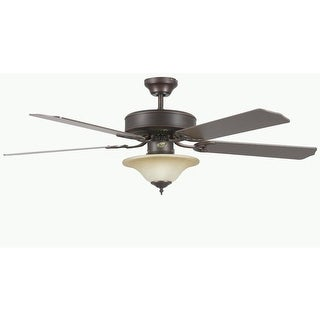 """Concord 52HES5E Heritage Square 52"""" 5 Blade Indoor Ceiling Fan with Light Kit, D"""