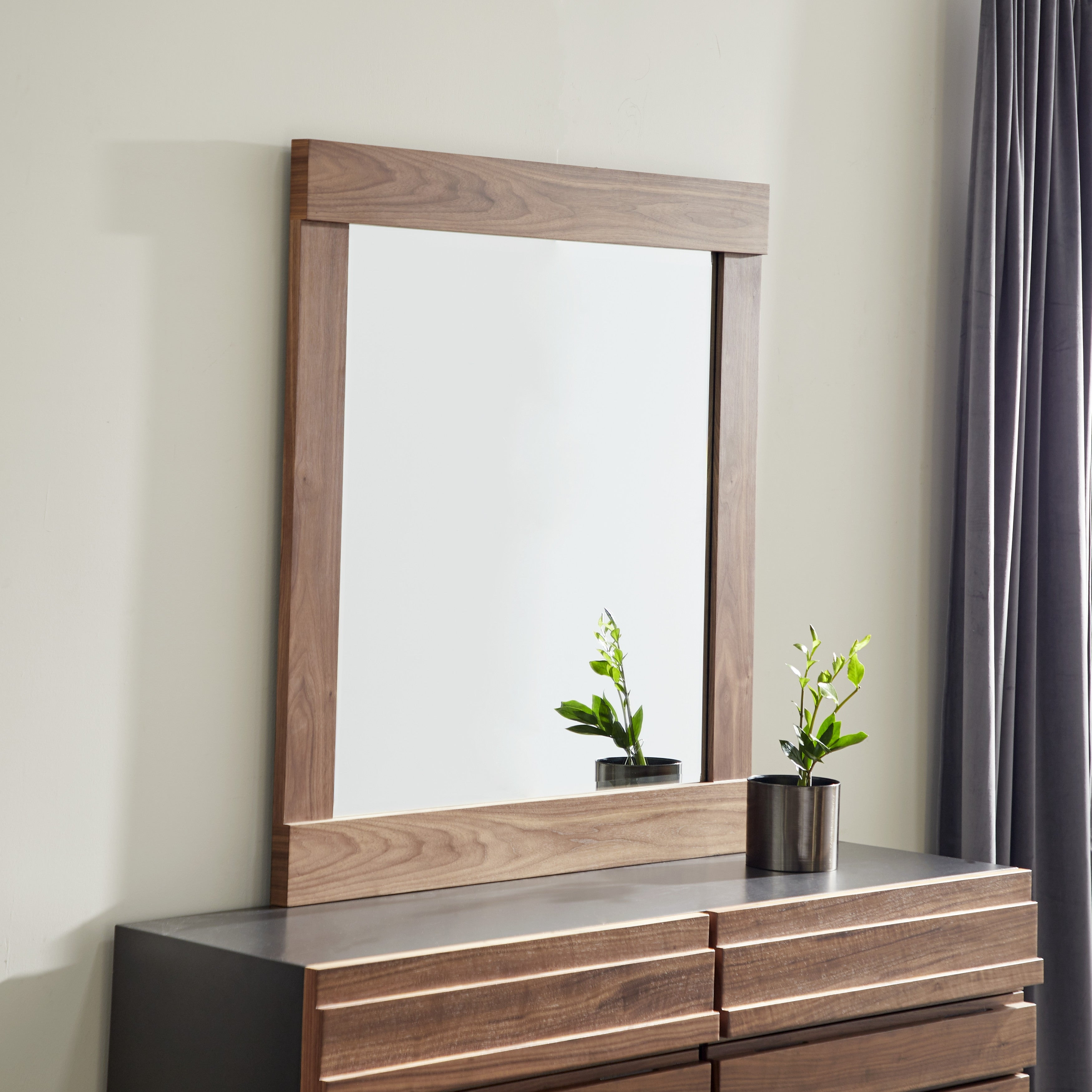 Contemporary Large Square Natural Wood Dresser Mirror 42 X 57 42 X 2 X 57 Overstock 32114481