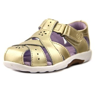 Stride Rite Tulip Toddler Round Toe Leather Gold Fisherman Sandal