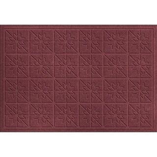 843600023 Water Guard Star Quilt Mat in Bordeaux - 2 ft. x 3 ft.