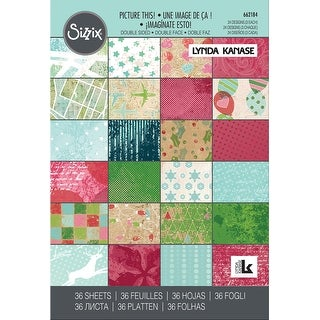 """Sizzix 4""""X6"""" Cardstock Pad By Lynda Kanase 36/Pkg-Picture This!"""