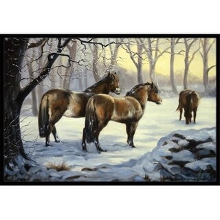 Carolines Treasures BDBA0122JMAT Horses in Snow by Daphne Baxter Indoor or Outdoor Mat 24 x 36